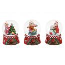 Schneekugel Natale vetro bambino / poli 4-s