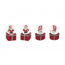 wholesale Gifts & Stationery: Snow globe Christmas figures made of poly, 4-fold