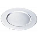 Piastra posto in argento di plastica, 33 cm