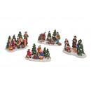 figure Natale gruppo di poli, B10 x T6 cm