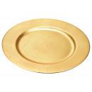 Mettere piatto in oro di plastica, 33 cm