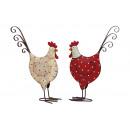 Chicken punten van metaal, geassorteerd , B15 x H2
