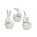CONIGLIO porcellana bianca A 3 VIE assortito 17-25
