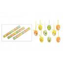 Uova di Pasqua Set per appendere in plastica, 6 pe