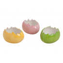 guscio d'uovo in ceramica, 3- assortito, B14 x
