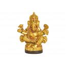 Oro Ganesha in poli 18 cm