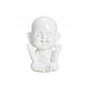 Buddha POLY BIANCO PACE 14X13X18 CM