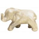 groothandel Woondecoratie: Decoratieve olifant gemaakt van klei 15x10cm