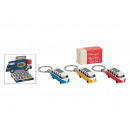 wholesale Gifts & Stationery: Keyring VW T1 Bus 1963 with LED, triple s