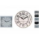 wholesale Clocks & Alarm Clocks: Clock 6 assorted 28 cm in diameter
