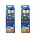 Crayons Jumbo natural triangular shape of 6 pack