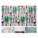 Place mat, desk pad, 12 packaged