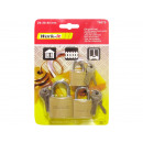 wholesale Ironmongery: Padlocks Solid Set of 3, 25-30-40mm
