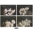 grossiste Cartes de vœux: Carte de deuil  avec des motifs floraux subtils,