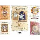 grossiste Cartes de vœux: Carte de mariage  avec de l'or bordée impressio