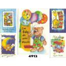 grossiste Cartes de vœux: Félicitations  Classé Carte pour bébé, 12 broches