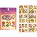 grossiste Cartes de vœux: Autocollants de  Pâques avec des paillettes et des