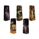 groothandel Food producten: Gift bag  flessengrootte (360x130x85 mm) Wijn