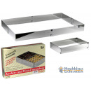 Baking frame,  rectangular baking pan without divid