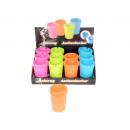 Großhandel Aschenbecher: Wind-Aschenbecher  Kunststoff,farbig 11x8 cm