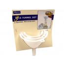 groothandel Keukenhulp: Set van 3 plastic trechter