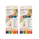 Großhandel Geschenkartikel & Papeterie: Buntstifte 12er Pack 17 cm lang