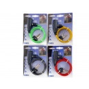 Bicycle cable lock steel wire 6mm x 90cm
