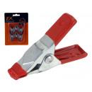groothandel Tuin & Doe het zelf: Leimzwinge (Plan  beugel) metaal rood 50 mm