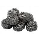 groothandel Reinigingsproducten: Schuursponsje Set  8 stuk roestvrij staal,