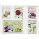 Hochzeit-Karte mit Rosenmotiven