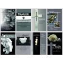 Großhandel Glückwunschkarten: Trauer-Karte dezent mit Sprüchen