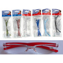 by reading  glasses, plastic 6 colors