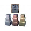 mayorista Mobiliario y accesorios oficina y comercio: Boxenset cartón, weihnachlich 3 piezas
