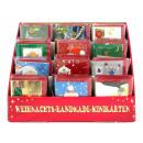 Weihnachts Handmade Minikarten, Ma§e 6,5 x 8 cm