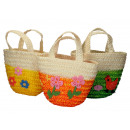 Easter bag 23 x 18 cm, natural fiber,