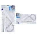 Geometry Set 4Pcs., 1 x protractor,