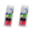 Großhandel Geschenkartikel & Papeterie: Textmarker Mini, 4er Pack mit Taschenclip