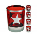 wholesale Home & Living: Tealight times assorted glass red, 4 times assorte