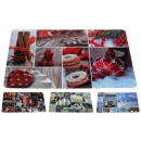Placemat Christmas 4 times assorted