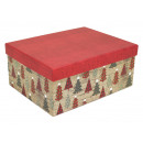 Boxing set cardboard box, 15 pieces in Christmassy