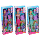 Big mermaid doll, 3 assorted