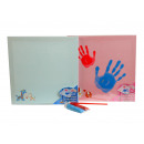 Canvas for handprint with colors