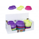 Plastic food bowl 3 times assorted
