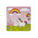 Puzzle unicorn, 3 times assorted ,