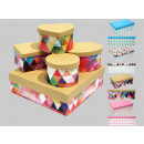 Boxing set cardboard box, 5 graphic designs,