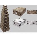 Boxing set cardboard packaging, newspaper design,