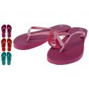 Großhandel Schuhe: Flip Flops Damen, 3 fach sortiert,