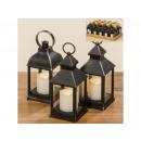 wholesale Wind Lights & Lanterns: LED lantern with timer, 15 / D 3 assorted H 24 cm,