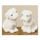 Dog Yoris 2 times assorted , height 12cm, porcelai