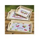 Decorative Tray Marmi Set of 3 Length 25-35 cm, co